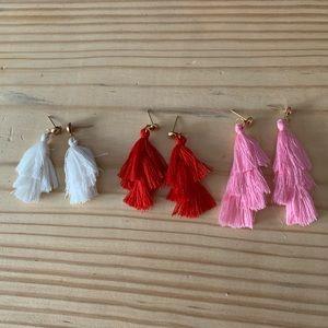Lot of 3 tassel earrings!